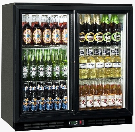 1000L Double Glass Door Drink Display Fridge