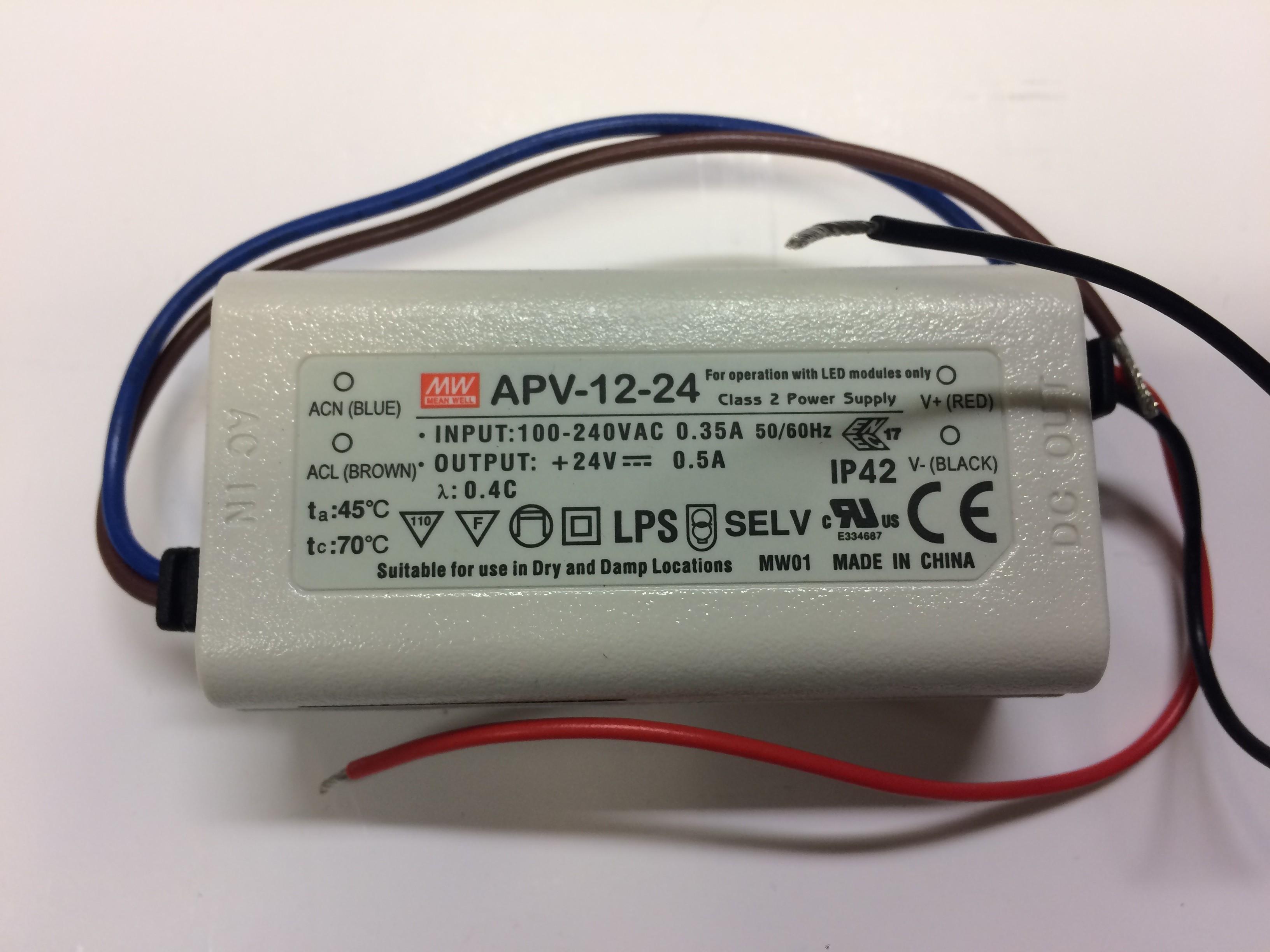 Rhino Moscow-293/Toronto-458 LED Lighting Transformer (APV-12-24 Meanwell)