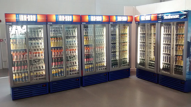 Irn Bru Cabinets in Commonwealth Games Athlete Village